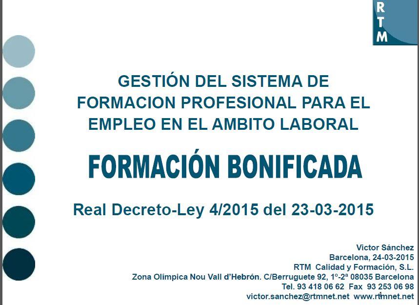 Publicado el Real Decreto-Ley para la reforma del Sistema de Formación Profesional para el Empleo, en el ámbito laboral.