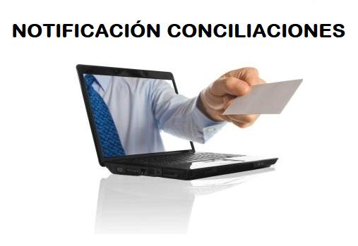 Notificación de las conciliaciones de los ejercicios de 2016 y 2017